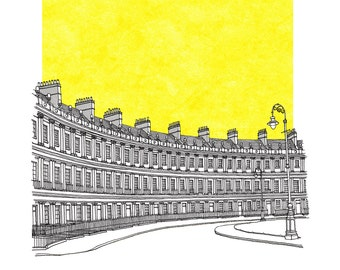 The Circus, Bath Limited Edition Print