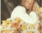 Daisy Afghan crochet pattern digital download