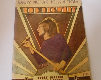 Vintage 1971 Rod Stewart Every Picture Tells A Story Songbook- RARE- Piano/Vocal/Guitar