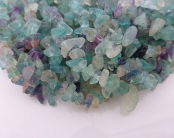 Small Flourite Chip Beads 4-6mm - 36 Inch Strand, Craft Supplies, Jewellery Making, Beads, Chips, UK Seller (GB1014)