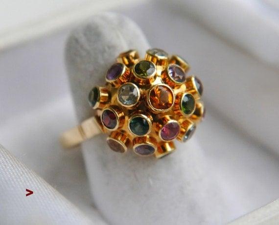 Vintage sputnik h stern ring 18k gold by atelierdemontplaisir for Mercedes benz 18k gold ring