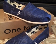 RubiiShoos Original- Navy Glitter- Navy Toms- Painted TOMS- Starry Sky- Wedding Toms- Wedding Shoes- Something Blue- Bride Shoes