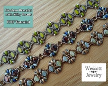 Pattern for Diadem Bracelet with Silky Beads