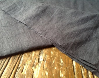 One metre / Half Metre of Superior Quality CHARCOAL Linen Fabric, 240gsm - 146 cms Wide