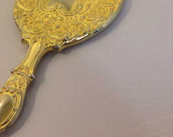 Popular Items For Gold Hand Mirror On Etsy