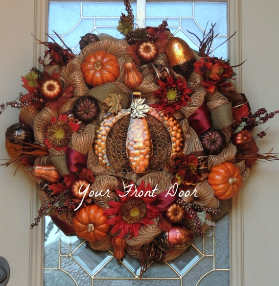Fall Wreath Thanksgiving Wreath Elegant Fall by  ~ 233449_Thanksgiving Decorations Nz