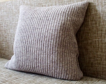 Knitted lambswool Pillow/Cushion cover/home accessories/indoor cushions/garden cushions/pool cushions/gray/black/brown