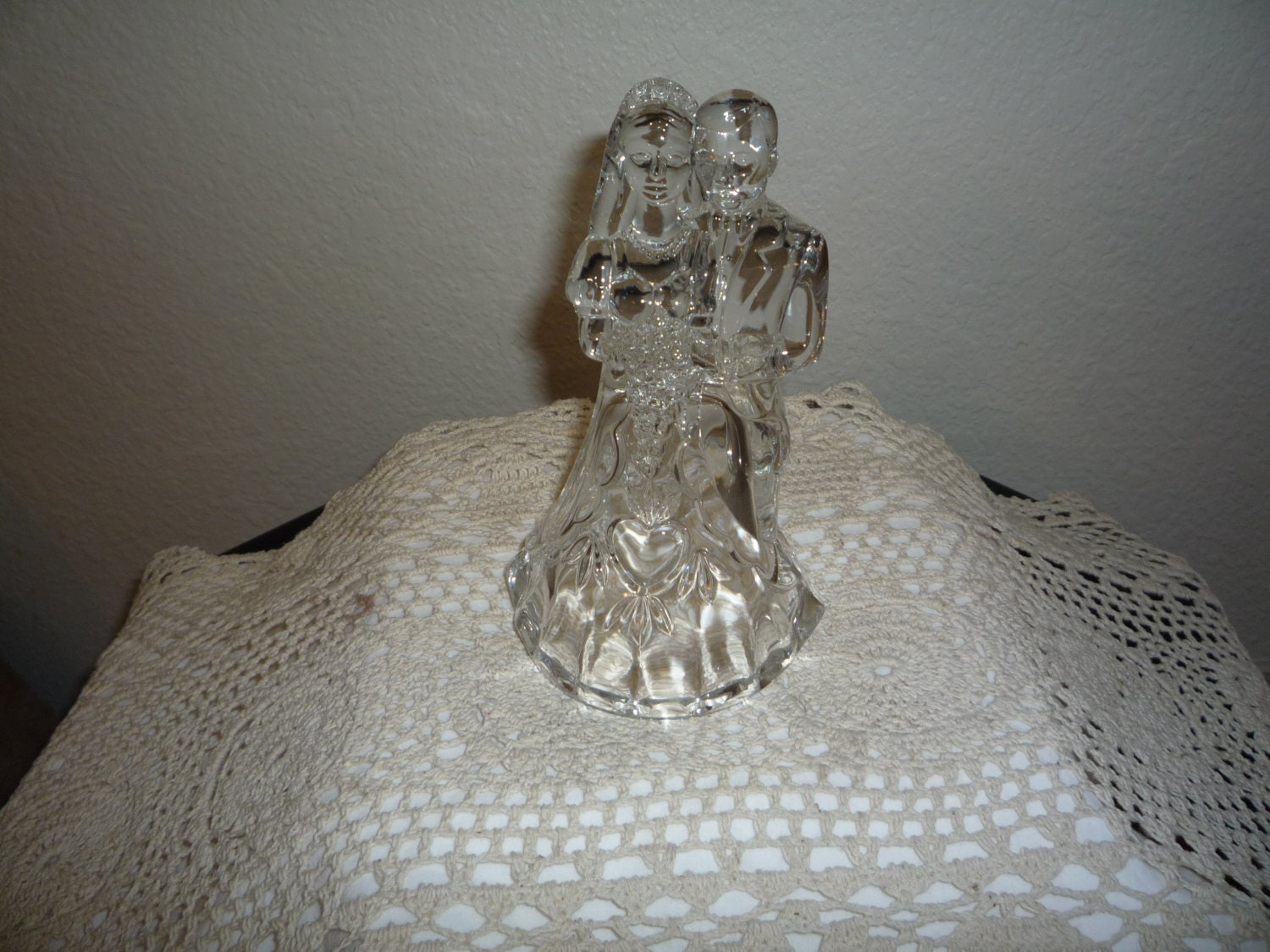 crystal bride and groom wedding cake toppers and groom cake topper 13104