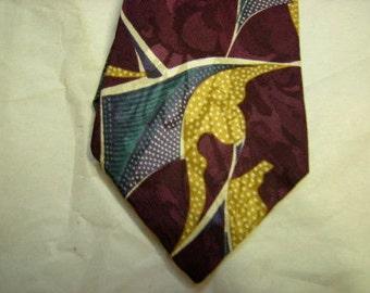 silk necktie-boston traders-night out-bold designs-retro-