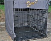 Coton crate cover for dog (color choices and FREE embroidery)