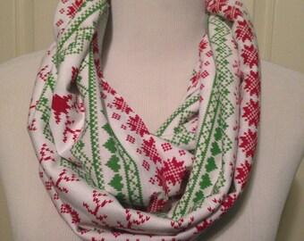 Infinity Scarf- Christmas reindeer  NOT A NURSING SCARF