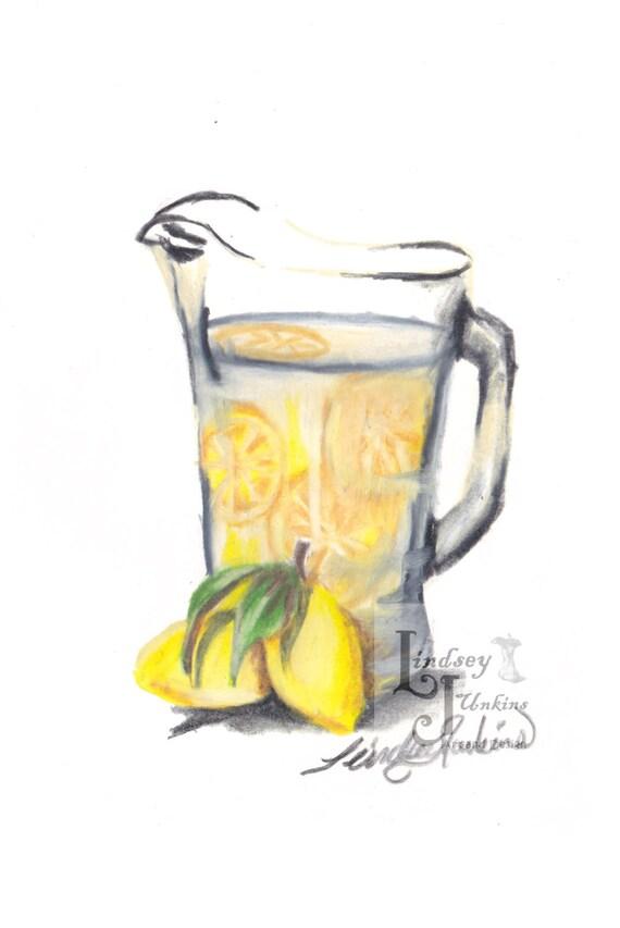 Items Similar To Lemon Wall Art Lemonade In A Glass