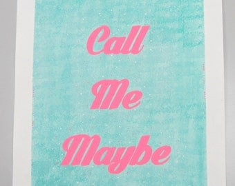 Carly Rae Jepsen - Call Me Maybe - handpainted acrylic on watercolor