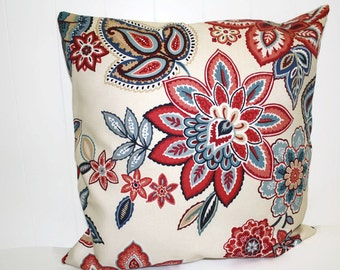 Waverly Decocrative Charismatic Heritage Floral Home Decor Pillow Cover