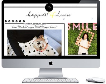 The Happiest of Hours Blogger Blog Template ***Includes Installation***