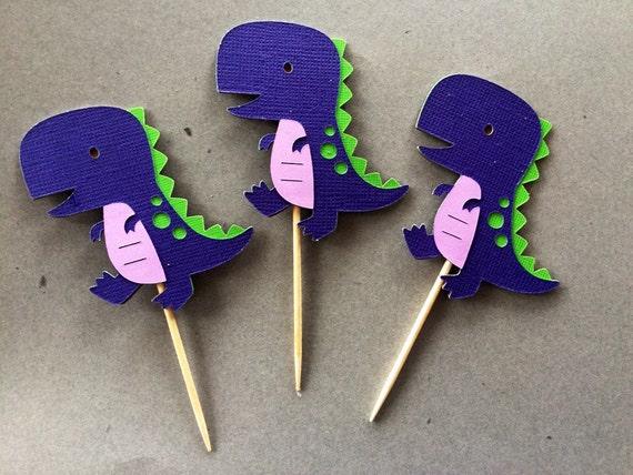 Dinosaur cupcake toppers, Dino Theme Party