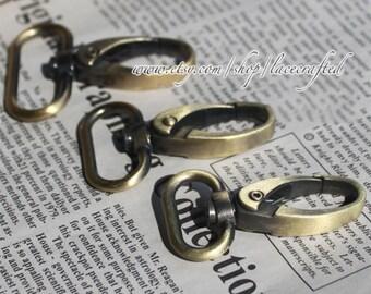 4pcs Brushed brass metal snap hooks purse clasps swivel hooks swivel clasp for bag making