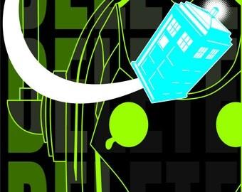 Dr. Who Cyberman art print
