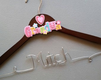 Personalized Grandma Hanger, Great Gift She Will Love
