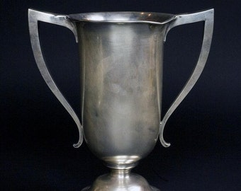 1917 Sterling Silver Trophy Cap Presented to Dominguez Ranch CA Tenants-Rare