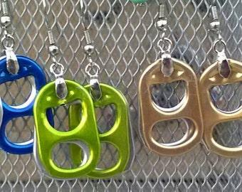 Upcycled Tab Earrings