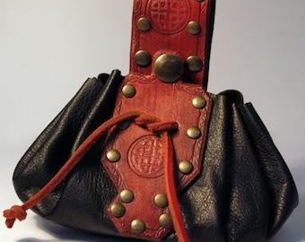 Money bag red/black