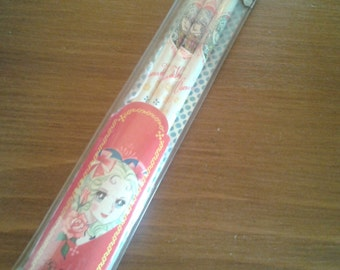 Vintage anime manga shojo Lady Oscar pencils, Versailles no Bara japan pencils