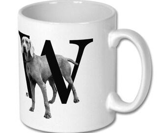 W for Weimeraner Dog Mug
