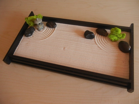 L03p Large Desk Or Table Top Zen Garden With Mini Pagoda