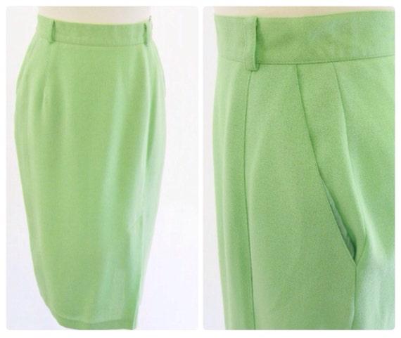sale vintage 80 s pencil skirt preppy lime green suit