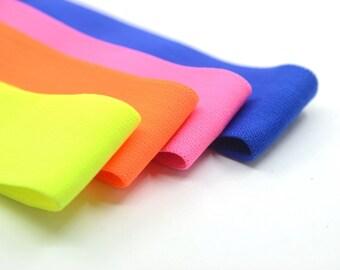 "Solid Colored Plush Comfortable Elastic Band by the Yard,Waistband Elastic,Elastic Ribbon, Elastic Trim, 1.5""  38mm wide"