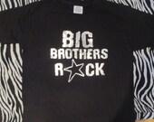 Big Brothers Rock METALLIC print Super cool Big brother t-shirt / shirt for any boy!