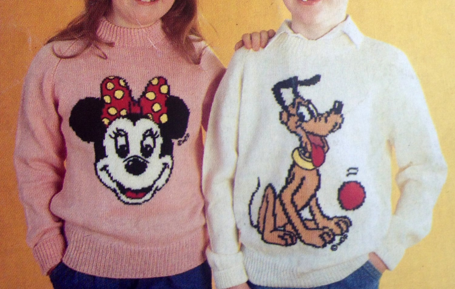 mickey and minnie mouse knitting pattern sweaters for children and adults dk ...