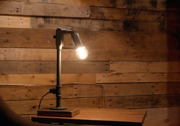 Industrial gas pipe desk lamp table lamp office by for Gas pipe desk lamp