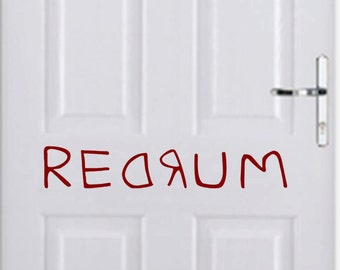 Redrum From the Shining- Halloween Wall Decal- 24x5