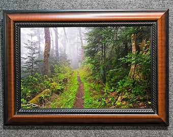 """Foggy Appalachian Trail Framed Smoky Mountains Picture from William Britten """"Peace in Wild Places"""""""