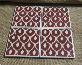 Set of Brown Scallops **QUICK SHIP** Coasters