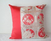 Kimono Obi Pillow Cover (Unique Japanese gifts; Kimono Obi Cushion; Made in Japan Pillow Cover; Japanese Pillows; Pink Kimono Pillows)
