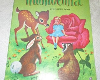 Vintage Thumbelina Coloring Book 1975