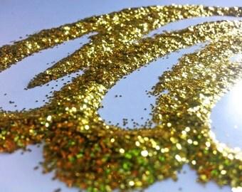glitter - gold fine polyester