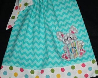 aqua blue girls Easter dress,  pillowcase dress, aqua blue, monogrammed, personalized,  12 month, 18 month, 24 month, 2t, 3t, 4t, 5