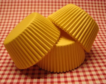50 Premium Yellow Cupcake Wrapper/ Yellow Baking Cups/ Yellow Cupcake Liners