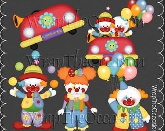 Bring In The Clowns2 - CU Clipart