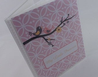 Photo Album Baby Girl Personalized Gift 4x6 photo album 5x7 Blush Pink Bird Picture Book 314