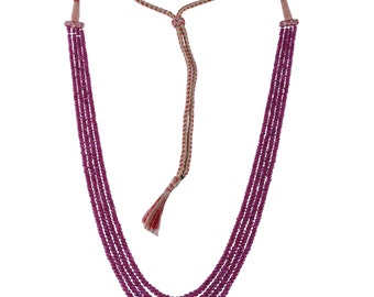Sale 20% OFF 410 cts.Pink Ruby Beads Ruby Rondelles faceted Red Ruby beads Rubies beads Necklace July Birthstone