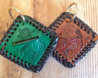 Veg tanned Leather plectrum case