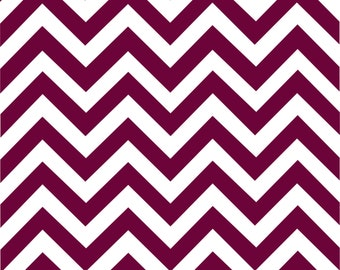 Maroon and white chevron craft  vinyl sheet - HTV or Adhesive Vinyl -  large zig zag pattern HTV152