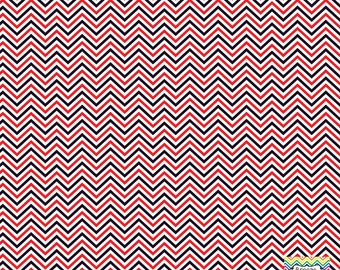 Red black and white mini chevron craft  vinyl sheet - HTV or Adhesive Vinyl -  zig zag pattern HTV1503
