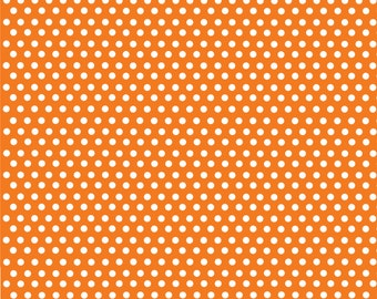 Orange with white mini polka dots craft  vinyl sheet - HTV or Adhesive Vinyl -  polka dot pattern HTV2308