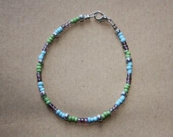 Spring blue bracelet